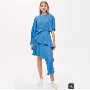 Topshop Boutique - asymmetrical blue skirt